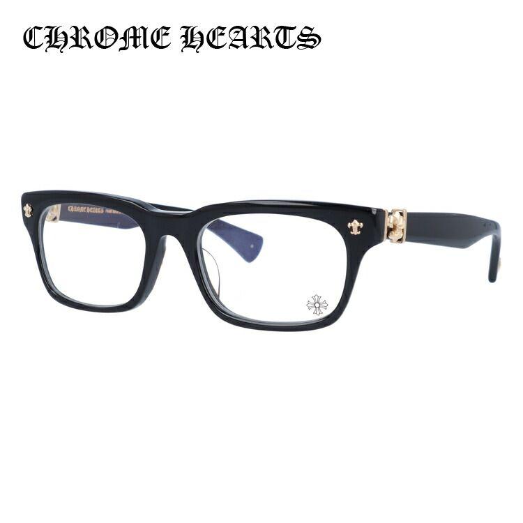 メガネ 度付き 度なし 伊達メガネ 眼鏡 クロムハーツ アジアンフィット CHROME HEARTS GITTIN ANY?-A BK-GP 52サイズ スクエア ユニセックス メンズ レディース UVカット 紫外線