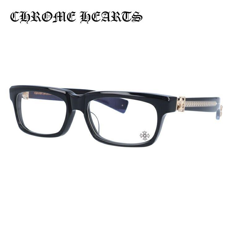 メガネ 度付き 度なし 伊達メガネ 眼鏡 クロムハーツ アジアンフィット CHROME HEARTS SPLAT-A BK-GP 55サイズ スクエア ユニセックス メンズ レディース UVカット 紫外線
