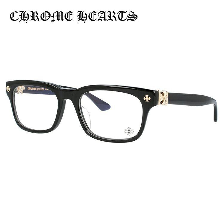 メガネ 度付き 度なし 伊達メガネ カラーレンズ 眼鏡 クロムハーツ レギュラーフィット CHROME HEARTS VAGILANTE BK-GP 54サイズ スクエア ユニセックス メンズ レディース レンズセット UVカット 紫外線 サングラス