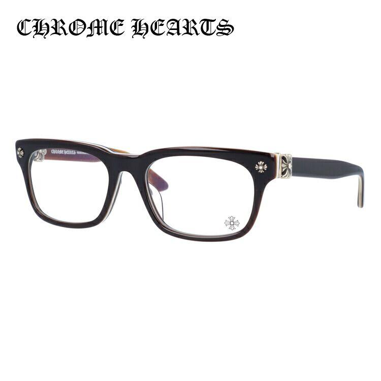 メガネ 度付き 度なし 伊達メガネ 眼鏡 クロムハーツ レギュラーフィット CHROME HEARTS VAGILANTE BRBBR 54サイズ スクエア ユニセックス メンズ レディース UVカット 紫外線SzGpqMVLU