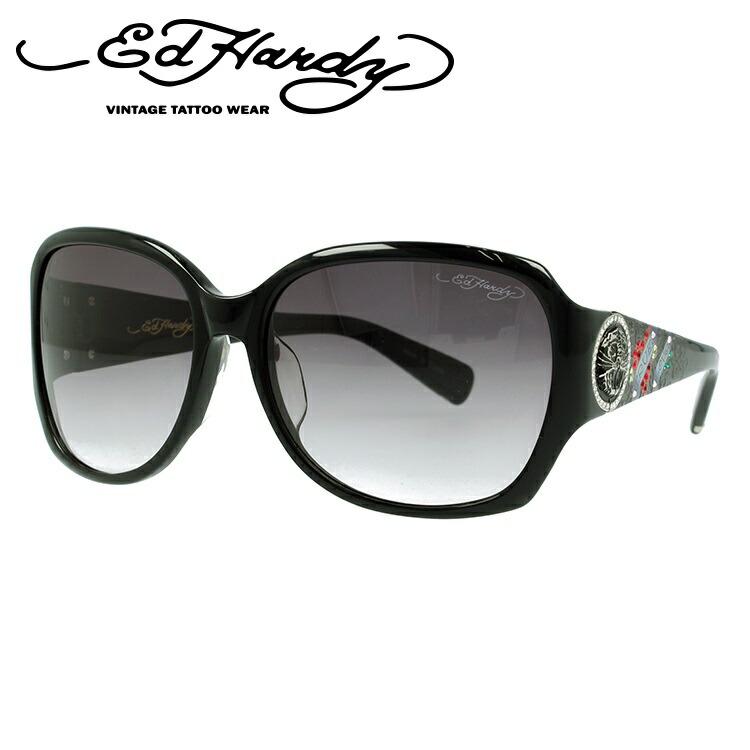 エドハーディー サングラス EDHARDY トゥルー ラブ TRUE LOVE 3 BLACK【レディース】UVカット UVカット