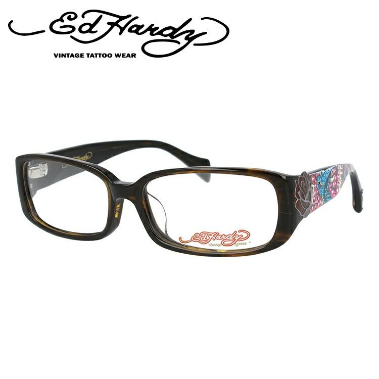 EdHardy エドハーディー 伊達メガネ 眼鏡 EHOA025 2 OLIVE オリーブ スクエア メンズ レディース 【スクエア型】