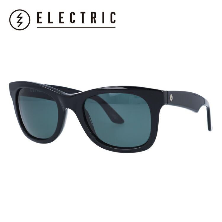 エレクトリック サングラス ELECTRIC DETROIT XL ES12101601 53サイズ GLOSS BLACK/GREY ウェリントン型 メンズ レディース