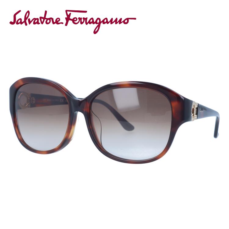 サルヴァトーレ フェラガモ サングラス Salvatore Ferragamo SF741SRA-212 57 ライトトータス アジアンフィット べっこう レディース UVカット 紫外線