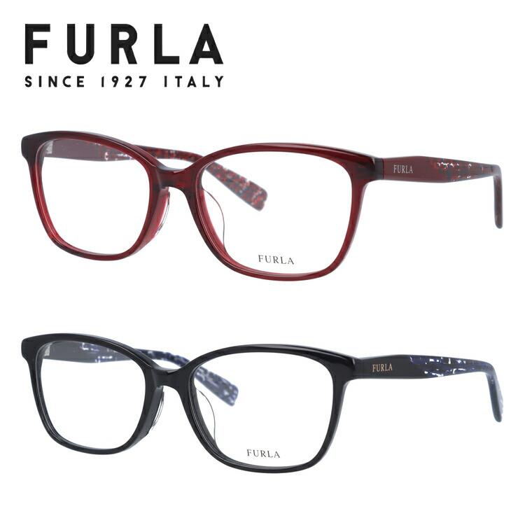フルラ メガネフレーム 伊達メガネ アジアンフィット FURLA VFU108J 全3カラー 52サイズ ウェリントン型 レディース 女性用 UVカット 紫外線対策 UV対策 おしゃれ ギフト