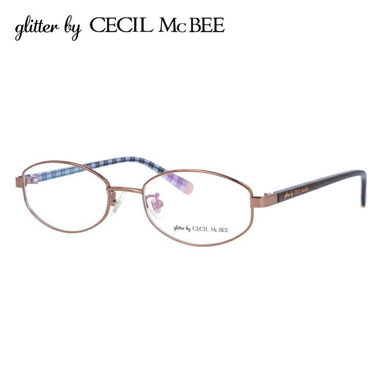 グリッターバイセシルマクビー 伊達メガネ 眼鏡 アジアンフィット glitter by CECIL McBEE GCF 3502-3 50サイズ オーバル レディース