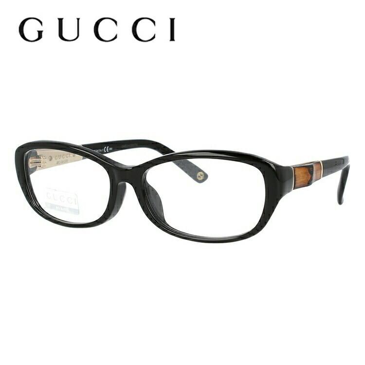 グッチ 伊達メガネ 眼鏡 GUCCI GG8002F 4UA 53 ブラック アジアンフィット メンズ レディース