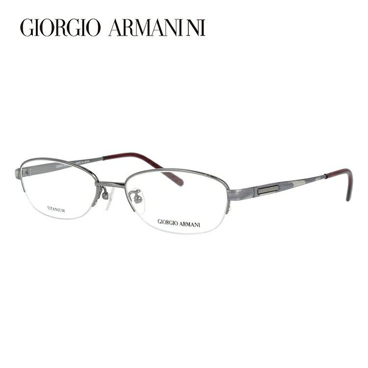 GIORGIO ARMANI ジョルジオ アルマーニ 伊達メガネ 眼鏡 GA2696J 6DS 51サイズ チタン/ハーフリム/オーバル/メンズ/ユニセックス/レディース