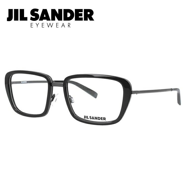 ジルサンダー 伊達メガネ 眼鏡 JIL SANDER J2002-A 54サイズ 調整可能ノーズパッド メンズ レディース 【スクエア型】