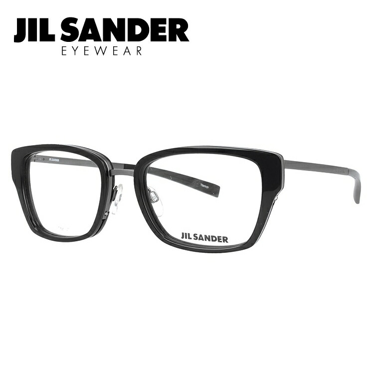 ジルサンダー 伊達メガネ 眼鏡 JIL SANDER J2004-A 54サイズ 調整可能ノーズパッド レディース 【スクエア型】