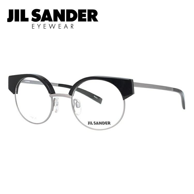ジルサンダー メガネフレーム JIL SANDER 度付き 度なし 伊達 だて 眼鏡 メンズ レディース J2006-A 48サイズ ラウンド型 UVカット 紫外線