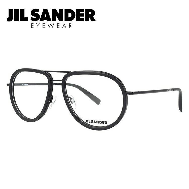 メガネ 度付き 度なし 伊達メガネ カラーレンズ 眼鏡 ジルサンダー JIL SANDER J2008-A 57サイズ 調整可能ノーズパッド メンズ レディース レンズセット UVカット 紫外線 サングラス
