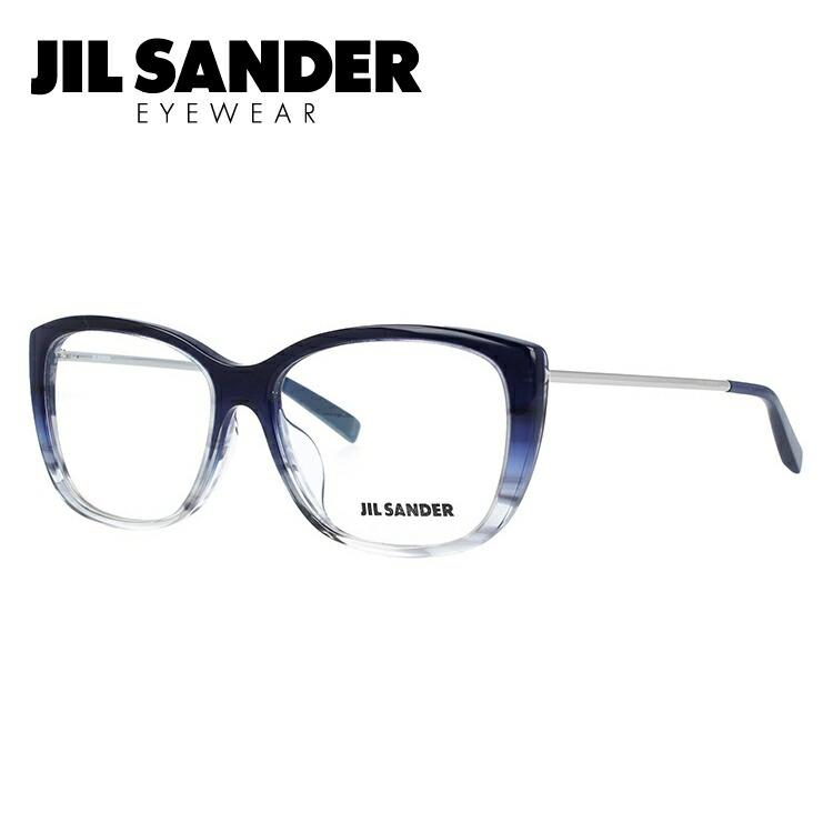 ジルサンダー メガネフレーム JIL SANDER 度付き 度なし 伊達 だて 眼鏡 メンズ レディース J4002-M 55サイズ アジアンフィット レディース スクエア型 UVカット 紫外線