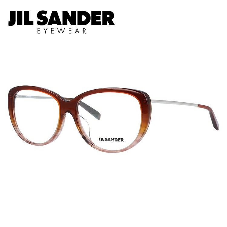 メガネ 度付き 度なし 伊達メガネ カラーレンズ 眼鏡 ジルサンダー JIL SANDER J4003-N 56サイズ アジアンフィット レディース 【ウェリントン型】 レンズセット UVカット 紫外線 サングラス