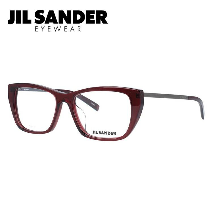 ジルサンダー 伊達メガネ 眼鏡 JIL SANDER J4005-M 52サイズ アジアンフィット レディース 【ウェリントン型】