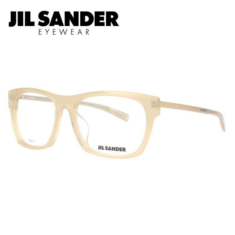 ジルサンダー 伊達メガネ 眼鏡 JIL SANDER J4006-N 55サイズ アジアンフィット メンズ レディース 【ウェリントン型】