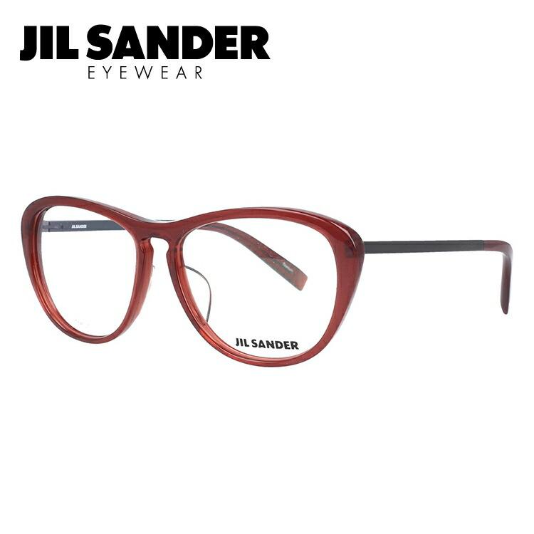 ジルサンダー メガネフレーム JIL SANDER 度付き 度なし 伊達 だて 眼鏡 メンズ レディース J4013-B 53サイズ レギュラーフィット レディース ウェリントン型 UVカット 紫外線