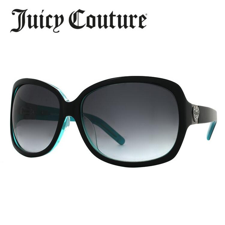 ジューシークチュール サングラス JUICY COUTURE SIENNAFS EL9/JJ ブラック・ターコイズ/スモークグラデーション アジアンフィット レディース 女性用 UVカット 紫外線対策 UV対策 おしゃれ ギフト