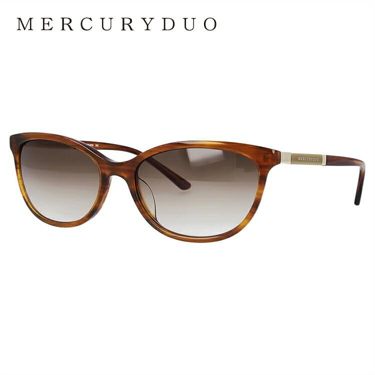 マーキュリーデュオ サングラス アジアンフィット MERCURYDUO MDS 9018-2 58サイズ フォックス型 レディース 女性用 アイウェア UVカット 紫外線対策 UV対策 おしゃれ ギフト