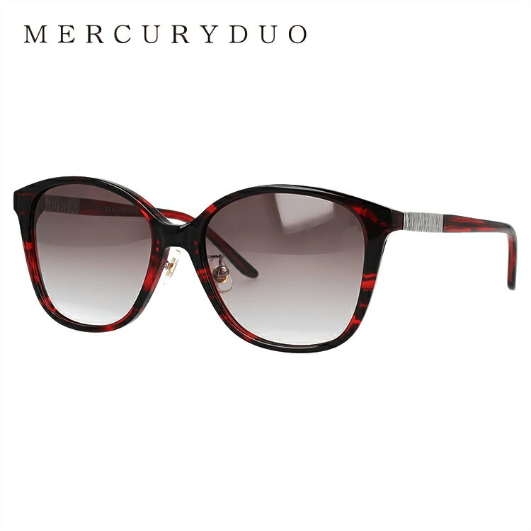 マーキュリーデュオ サングラス MERCURYDUO MDS 9021-3 54サイズ ウェリントン型 レディース 女性用 アイウェア UVカット 紫外線対策 UV対策 おしゃれ ギフト