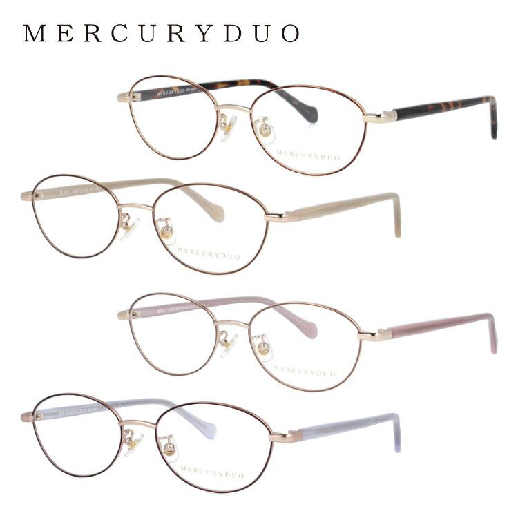 マーキュリーデュオ メガネフレーム 伊達メガネ MERCURYDUO MDF6026 全4カラー 50サイズ オーバル型 レディース 度付き 度なし 伊達 だて 眼鏡 アイウェア UVカット 紫外線対策 UV対策 おしゃれ ギフト