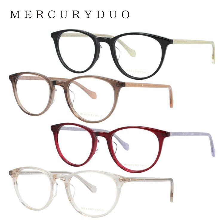 マーキュリーデュオ メガネフレーム 伊達メガネ MERCURYDUO MDF8042 全4カラー 50サイズ ボストン型 レディース ラインストーン 度付き 度なし 伊達 だて 眼鏡 アイウェア UVカット 紫外線対策 UV対策 おしゃれ ギフト