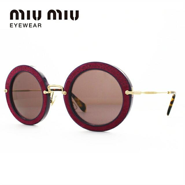 ミュウミュウ サングラス miu miu MU08RS U6A6X1 49サイズ 国内正規品 ラウンド レディース UVカット