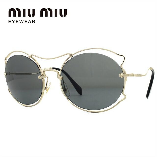 ミュウミュウ サングラス miu miu MU50SS ZVN9K1 57サイズ 国内正規品 オーバル レディース