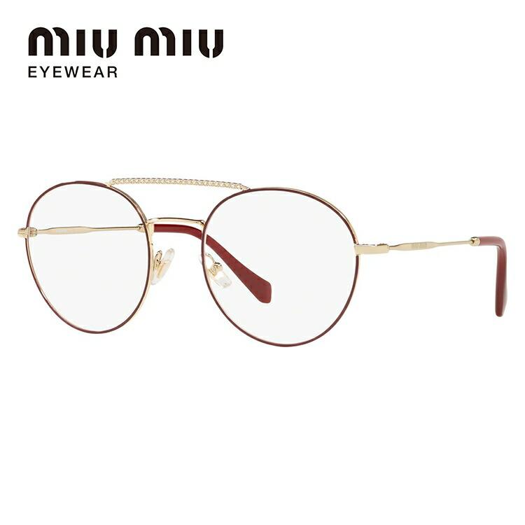 ミュウミュウ 伊達メガネ 眼鏡 2018年新作 レギュラーフィット miu miu MU51RV R1J1O1 52サイズ 国内正規品 ラウンド レディース