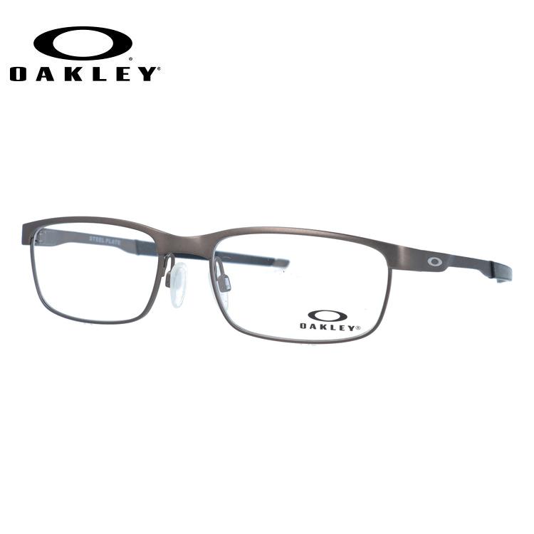 メガネ 度付き 度なし 伊達メガネ カラーレンズ 眼鏡 オークリー スチールプレート OAKLEY STEEL PLATE OX3222-0254 54サイズ スクエア メンズ レディース 【スクエア型】 レンズセット UVカット 紫外線 サングラス