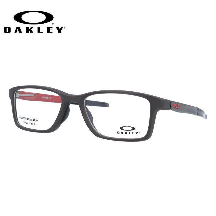 メガネ 度付き 度なし 伊達メガネ カラーレンズ 眼鏡 オークリー ゲージ7.1 交換用ノーズパッド付 OAKLEY GAUGE 7.1 OX8112-0354 54サイズ スクエア メンズ レディース 【スクエア型】 レンズセット UVカット 紫外線 サングラス