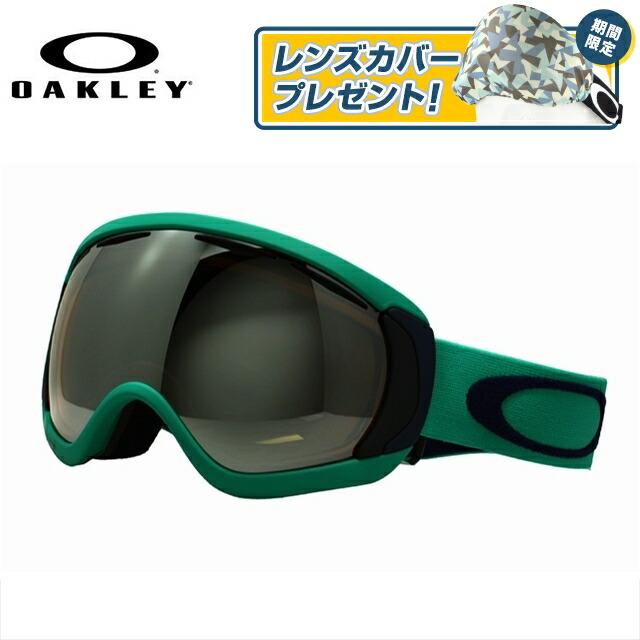 オークリー ゴーグル OAKLEY キャノピー アジアンフィット 59-145J グリーン系 CANOPY ミラーレンズ 快晴 曇り止め ダブルレンズ 眼鏡対応 ブラックイリジウム スノーゴーグル ジャパンフィット