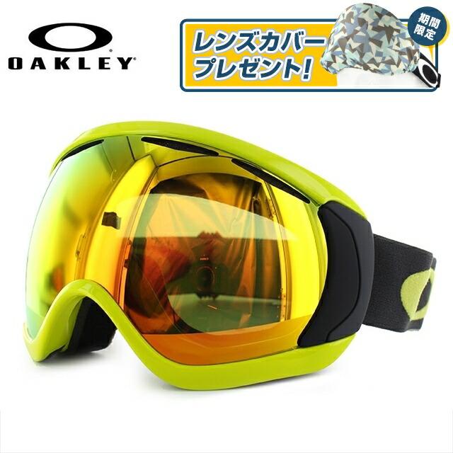 【訳あり】オークリー ゴーグル OAKLEY Canopy キャノピー OO7081-08 アジアンフィット Citrus Iron Fire Iridium スキー スノーボード