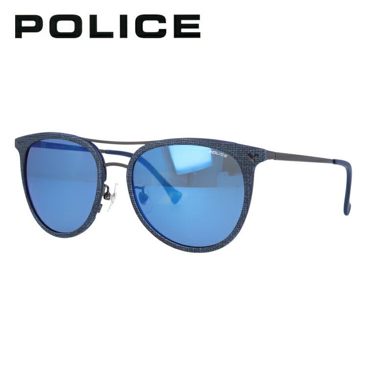 度付き対応 ポリス POLICE 評価 サングラス カラーレンズ メンズ レディース アイウェア UVカット NEW UV対策 AG2X 54サイズ ティアドロップ ミラーレンズ 国内正規品 紫外線 SPL153I ギフト