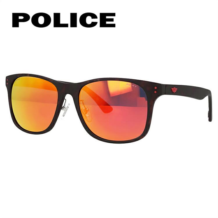 ポリス サングラス 2019新作 偏光サングラス ミラーレンズ POLICE SPL982I 878R 57サイズ 国内正規品 ウェリントン メンズ