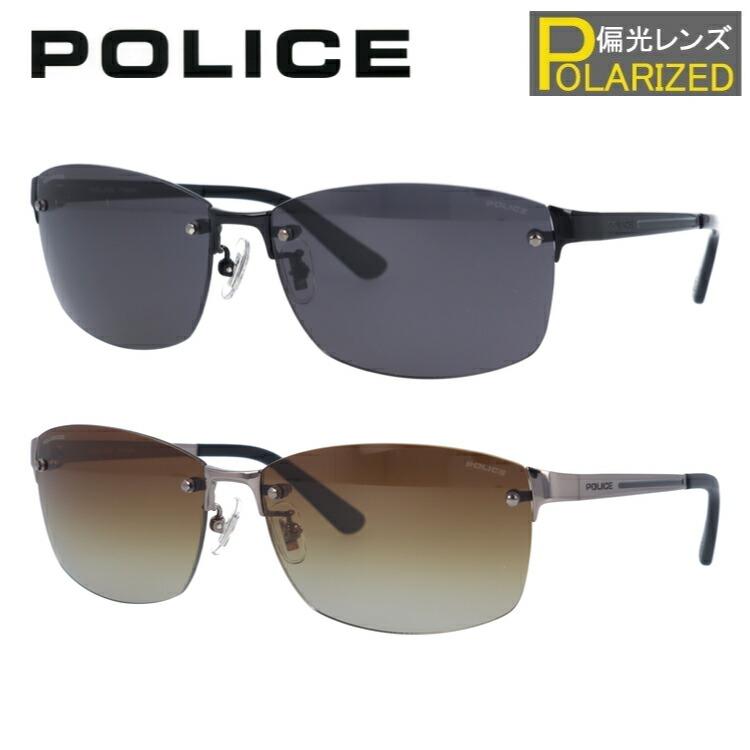 ポリス サングラス 偏光サングラス POLICE SPLA63J 全2カラー 60サイズ スクエア ユニセックス メンズ レディース
