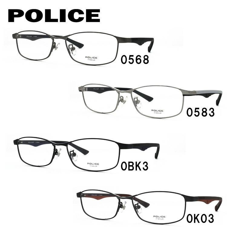メガネ 度付き 度なし 伊達メガネ 眼鏡 ポリス ブラックバード POLICE BLACKBIRD VPL752J 全4カラー 54サイズ スクエア型 UVカット 紫外線 【国内正規品】