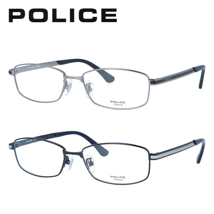 ポリス メガネフレーム 伊達メガネ POLICE VPL823J 全2カラー 54サイズ スクエア ユニセックス メンズ レディース 【国内正規品】