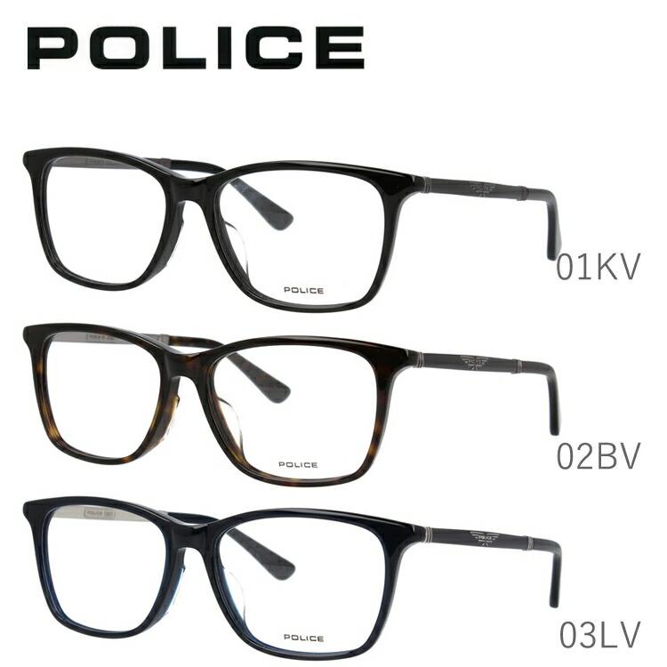 ポリス メガネフレーム 伊達メガネ アジアンフィット POLICE VPLB26J 全3カラー 54サイズ ウェリントン型 ユニセックス メンズ レディース 【国内正規品】