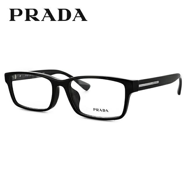 プラダ 伊達メガネ 眼鏡 PRADA 国内正規品 PR01SV 1AB1O1 56 ブラック アジアンフィット レディース メンズ 【スクエア型】