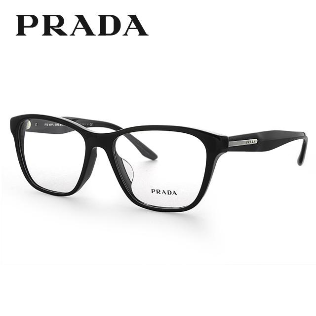プラダ 伊達メガネ 眼鏡 国内正規品 PRADA プラダジャーナル PR04TVF 1AB1O1 54 ブラック アジアンフィット レディース 【ウェリントン型】