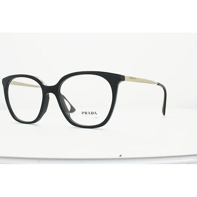プラダ 伊達メガネ 眼鏡 アジアンフィット PRADA PR11TVF 1AB1O1 53サイズ 国内正規品 ウェリントン メンズ レディース