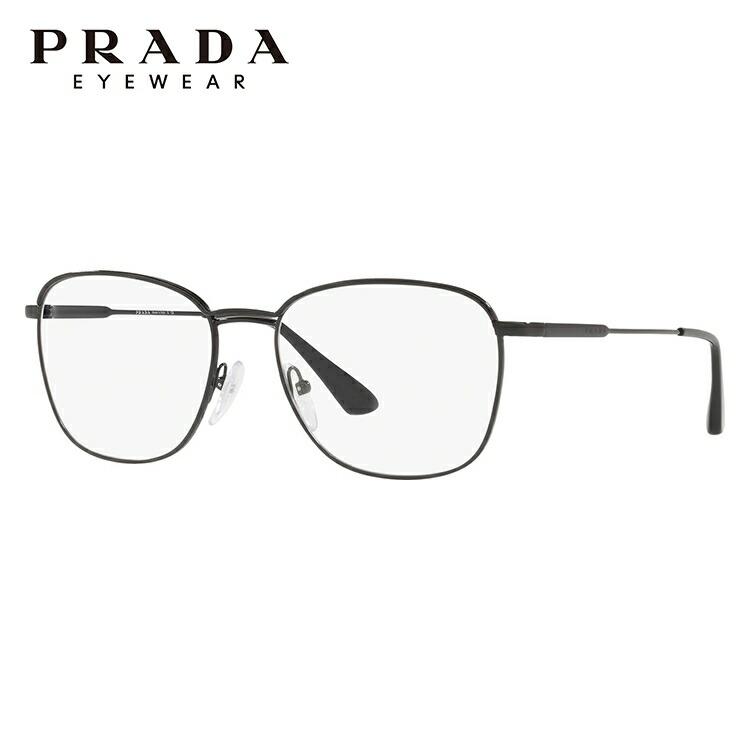 プラダ 伊達メガネ 眼鏡 2018年新作 PRADA PR57VV 1AB1O1 54サイズ 国内正規品 ウェリントン(ダブルブリッジ) メンズ レディース