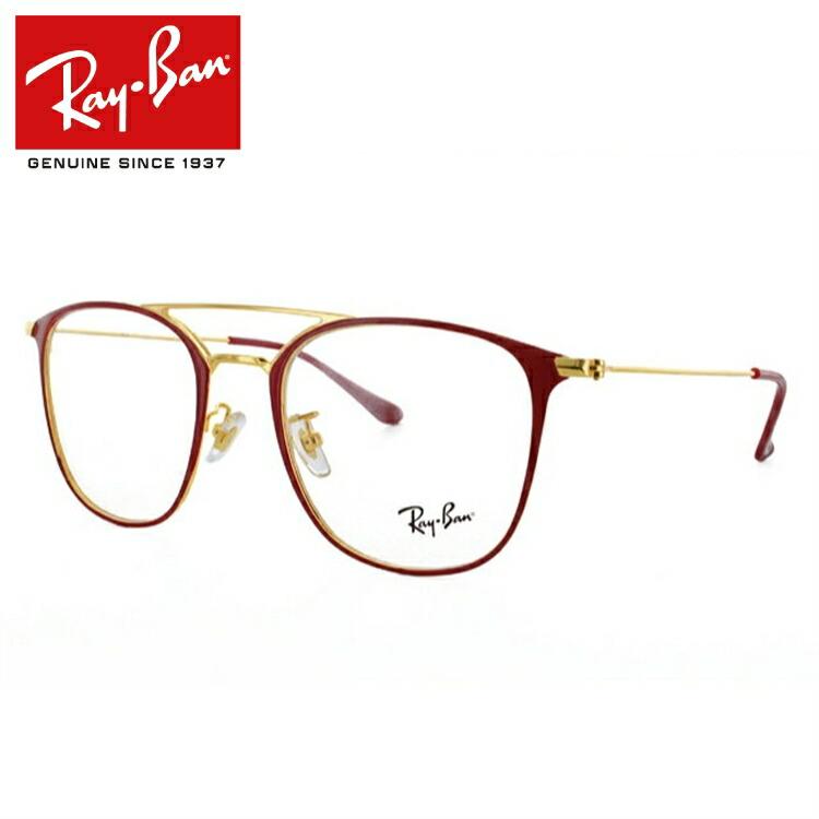 【国内正規品】 レイバン Ray-Ban 眼鏡 RX6377F 2910(RB6377F) 52 ボルドー/ゴールド フルフィット(アジアンフィット) メンズ レディース アイウェア 【ウェリントン型】