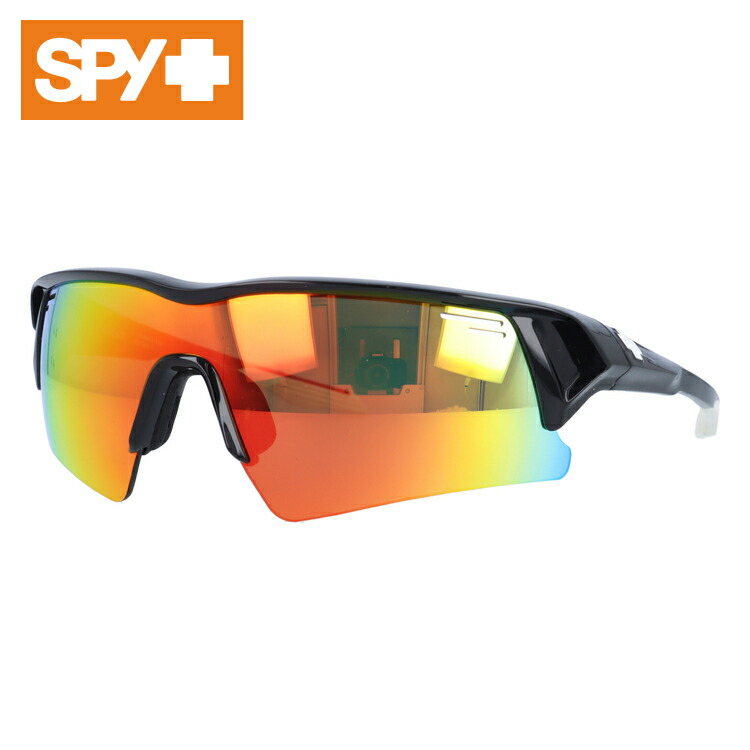 スパイ サングラス ミラーレンズ アジアンフィット SPY SCREW OVER Shiny Black/Bronze With Red Spectra 126サイズ スポーツ ユニセックス メンズ レディース