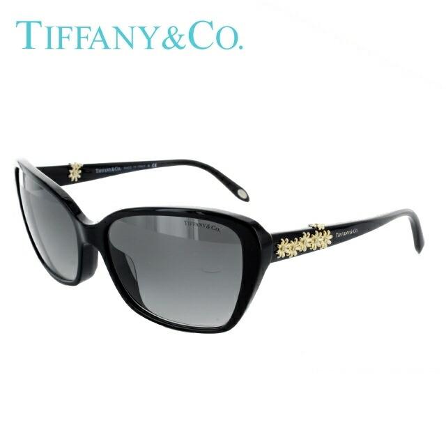 Tiffany ティファニー サングラス 国内正規品 TF4069BA 80013C 58 ブラック/スモークグラデーション【レディース】 UVカット