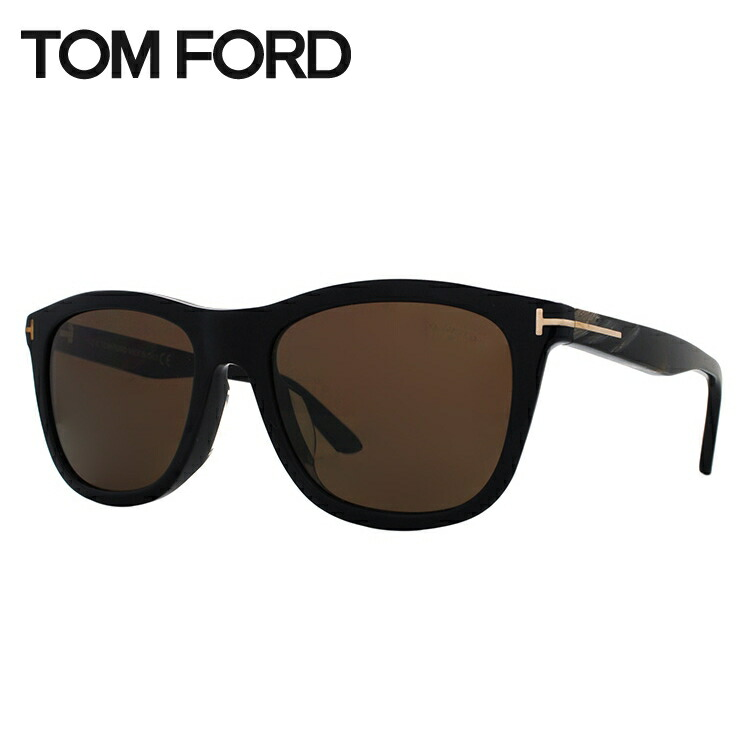 トムフォード サングラス アンドリュー 偏光サングラス アジアンフィット TOM FORD ANDREW TF0500F(FT0500F) 01H 54サイズ ウェリントン メンズ レディース