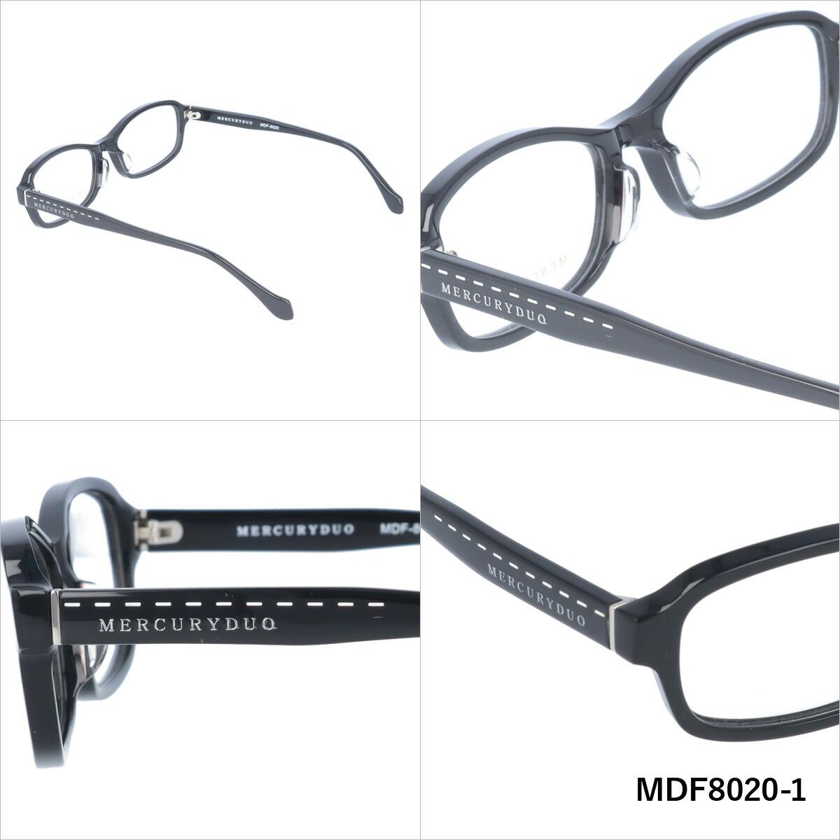 MERCURYDUO マーキュリーデュオ 伊達メガネ 眼鏡 MDF8020-1/MDF8020-2/MDF8020-3/MDF8020-4 スクエア レディース