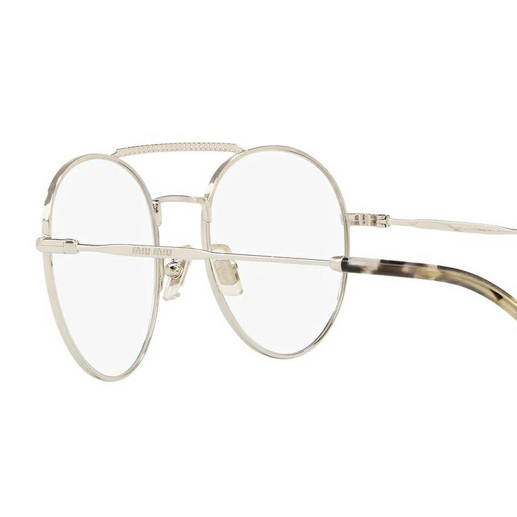 メガネ 度付き 度なし 伊達メガネ 眼鏡 ミュウミュウ レギュラーフィット miu miu MU51RV 1BC1O1 52サイズ ラウンド レディース 女性用 UVカット 紫外線対策 UV対策 おしゃれ ギフト国内正規品0XNn8OPkw