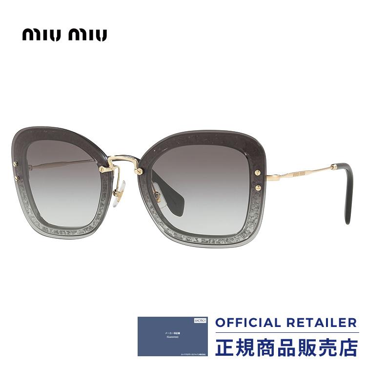 ミュウミュウ サングラス MU02TS UES0A7 65サイズMIU MIU MU02TS UES0A7 65サイズサングラス レディース メンズ